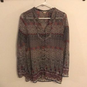 Boho sheer paisley top